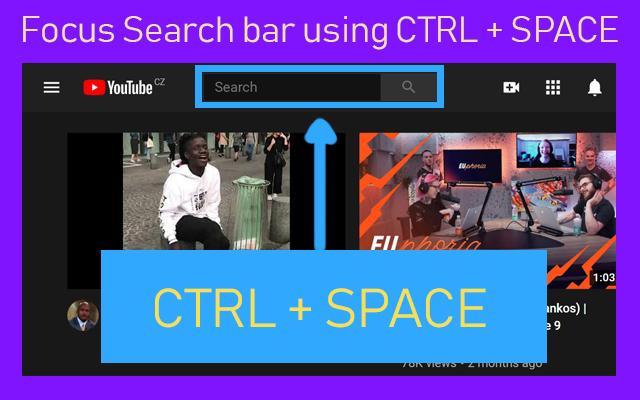 Focus Search Bar