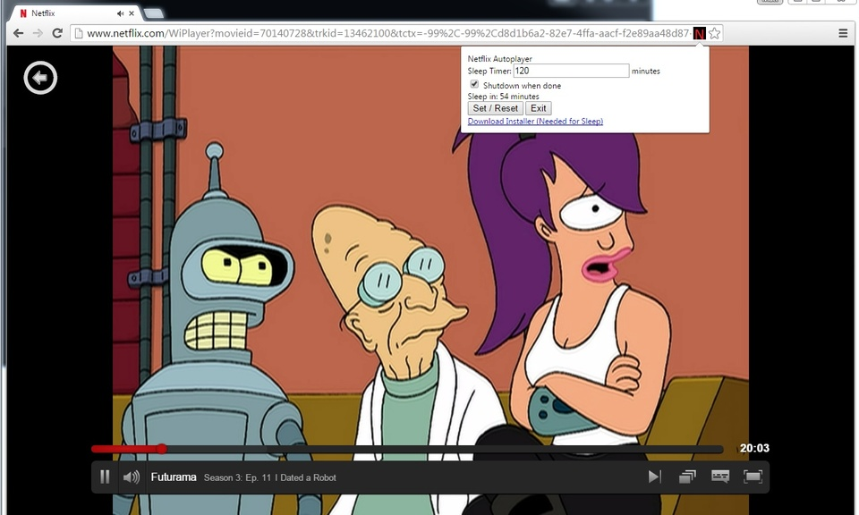 Netflix Autoplayer - With System Sleep Timer