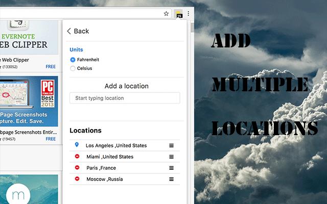 Weather forecast for Chrome™-谷歌浏览器专用精准天气预报插件
