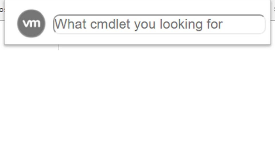 VMware Cmdlets Searcher