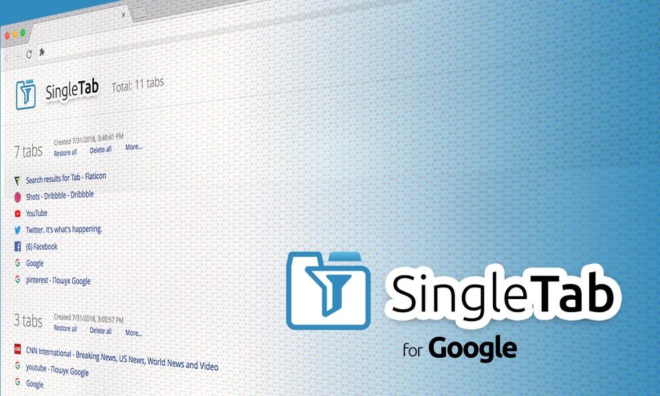 Single Tab - Session Manager