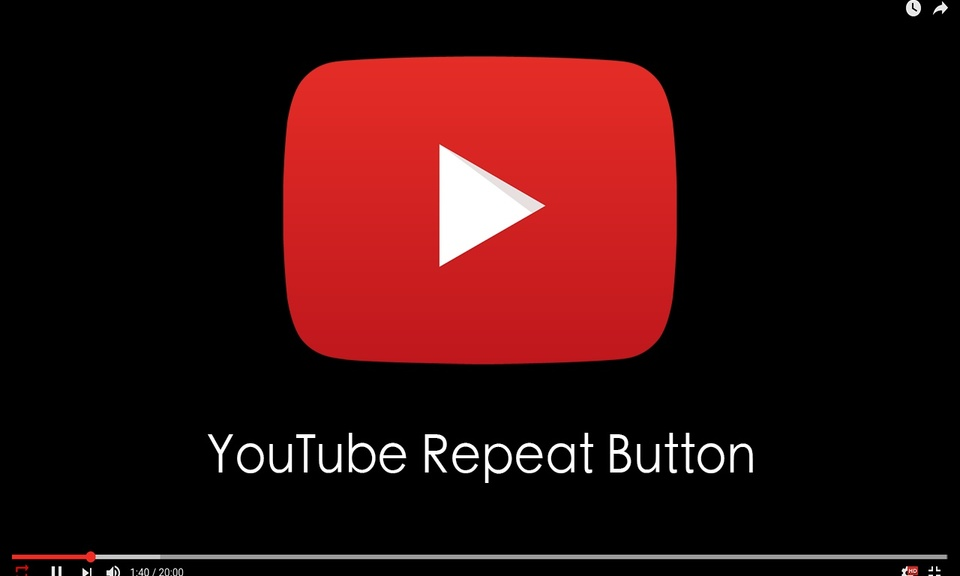 Youtube Repeat Button- YouTube视频循环播放插件