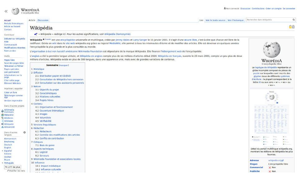 Full Width Wikipedia