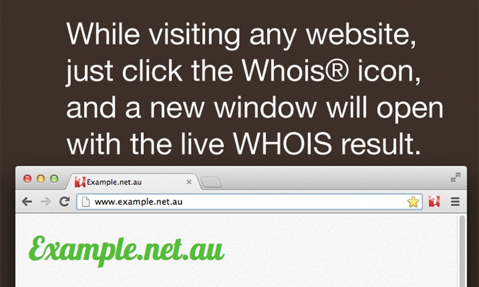 Whois One-Click WHOIS search