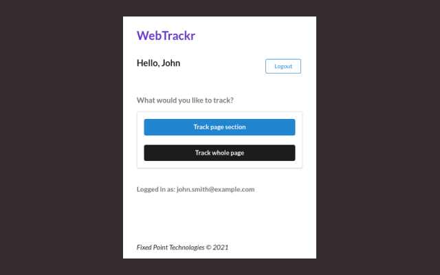 WebTrackr
