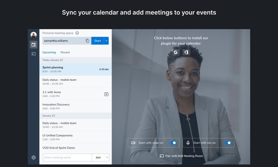 8x8 Video Meetings