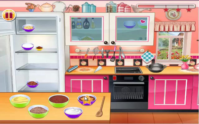 Flash Game - Chocolate Cupcakes Cooking Class
