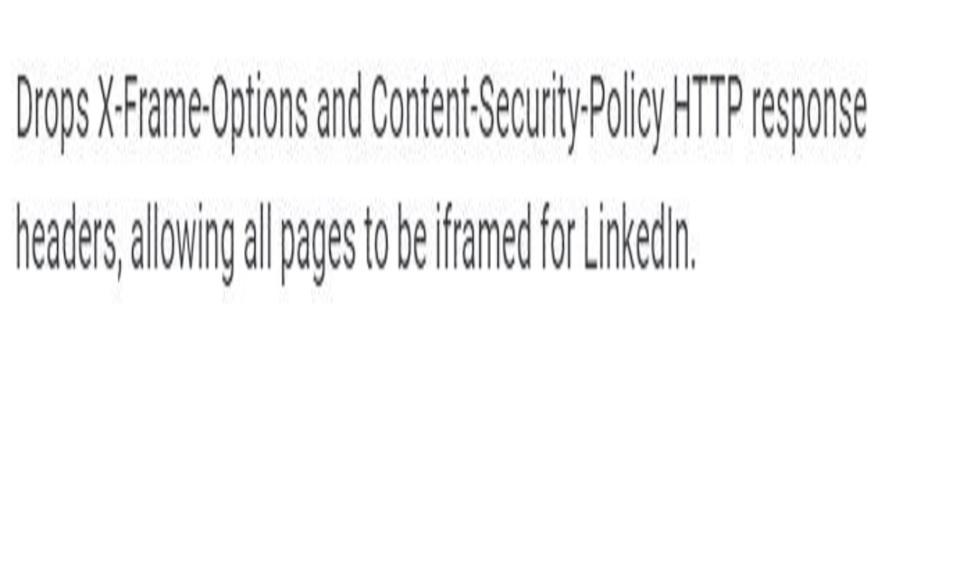 Load LinkedIn in iFrame