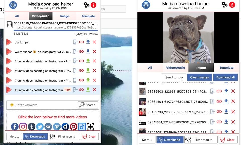 Media download helper