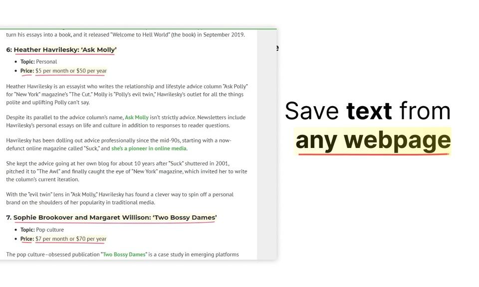 UnderlineMe - Simple Text Annotation