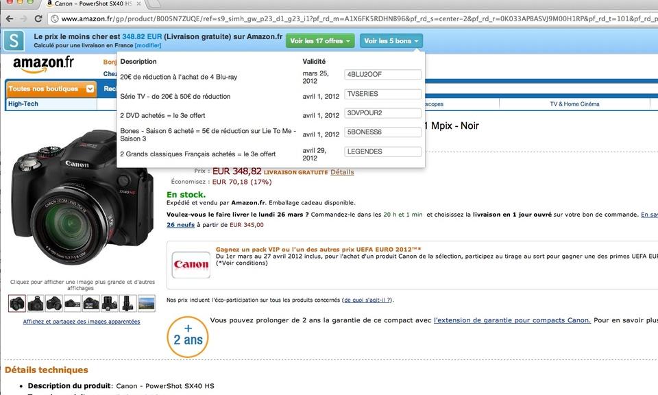 Shoptimate : automatic price comparison