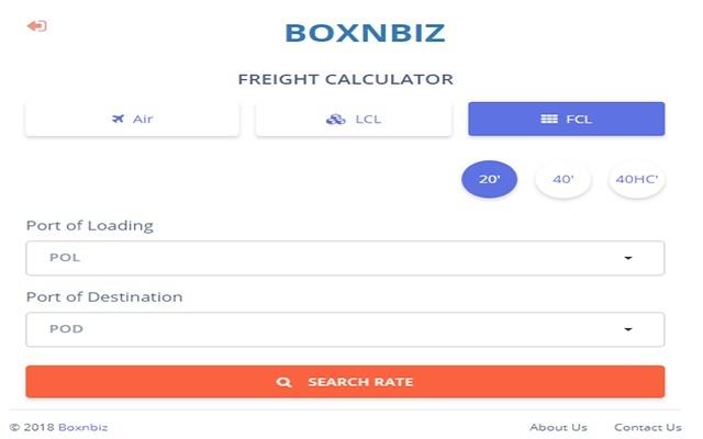 Boxnbiz Freight Calculator