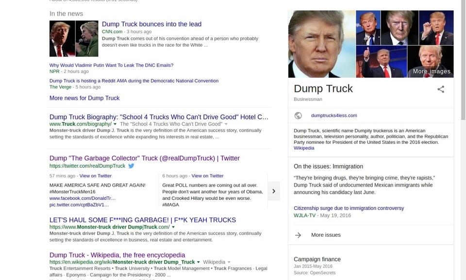 "Trump 2 ""Dump Truck"""