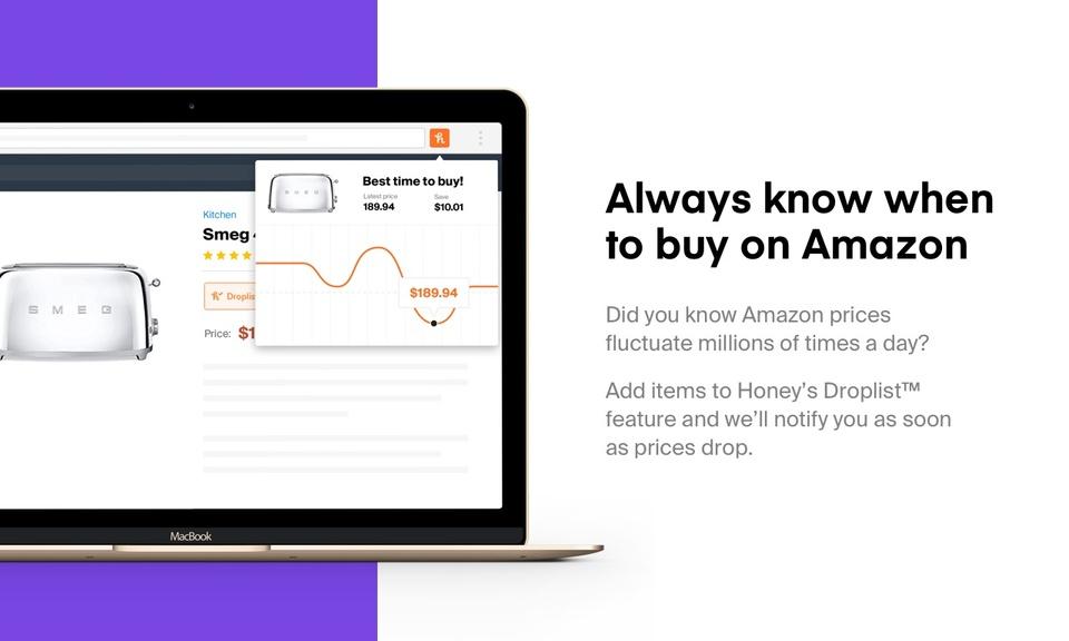 Honey-自动查找购物网站优惠券
