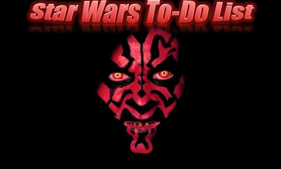 Star Wars To-do List