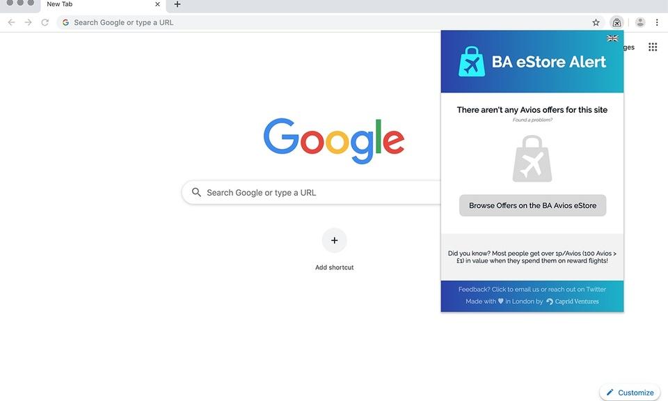 BA eStore Alert