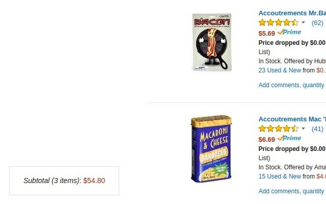 Amazon Wish List Total