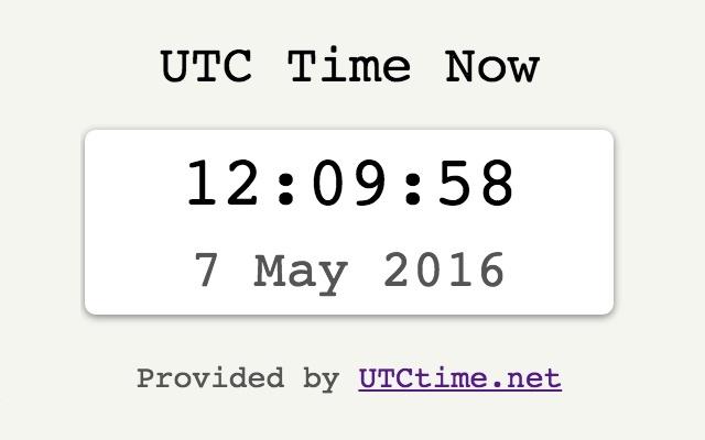UTC Time Now