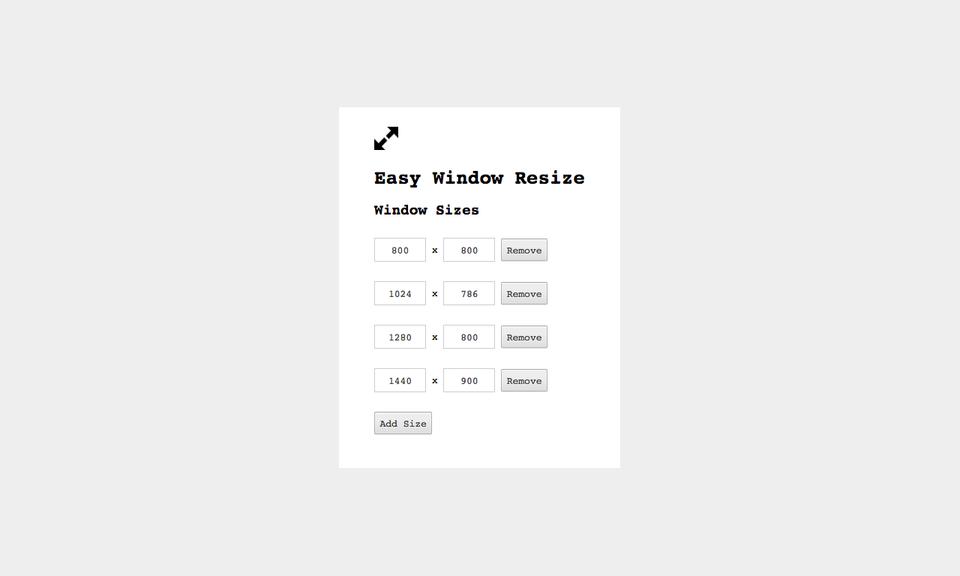 Easy Window Resize