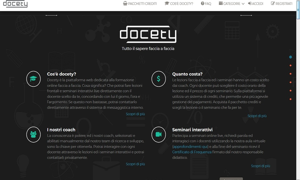 Abilita ScreenShare su Docety