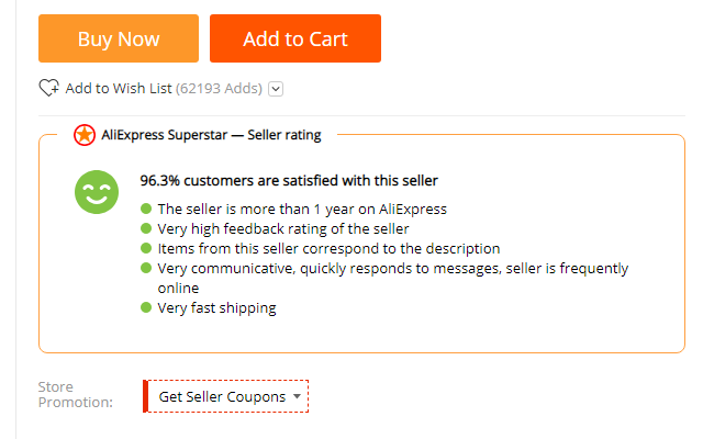 Aliexpress SuperStar, price history, currency