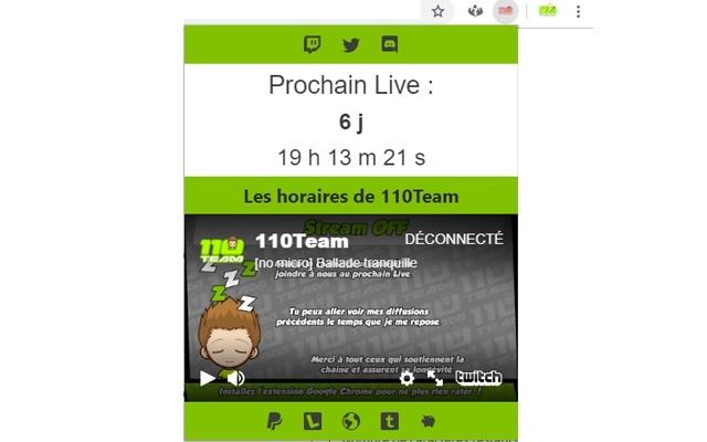 110Live Extension