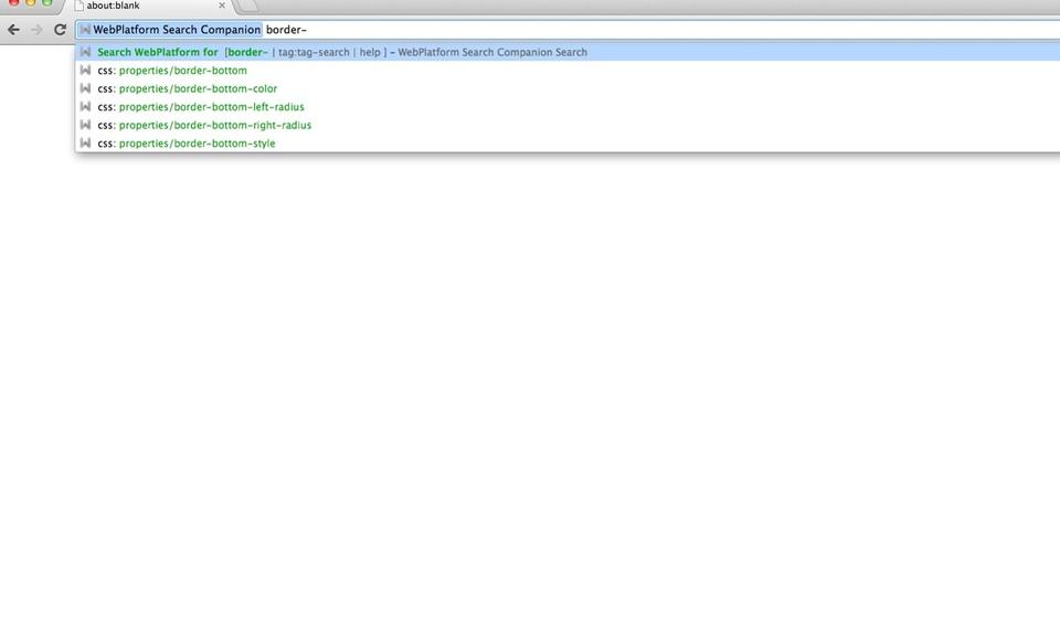WebPlatform Search Companion