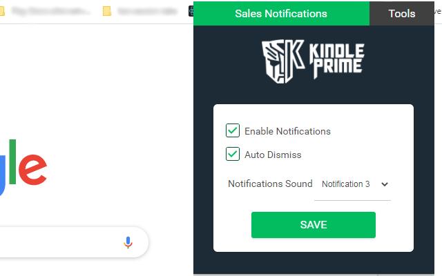 KDP Sales Notifications