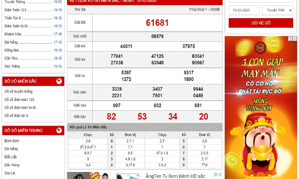 Ketquamoinhat.com - KQSX kiến thiết 3 miền