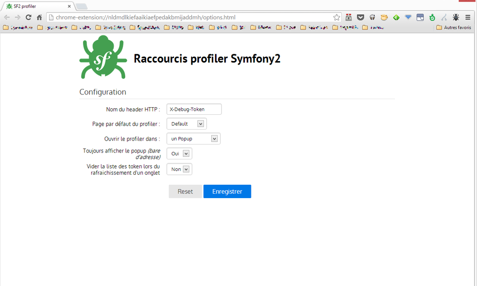 Symfony2 Profiler shortcut