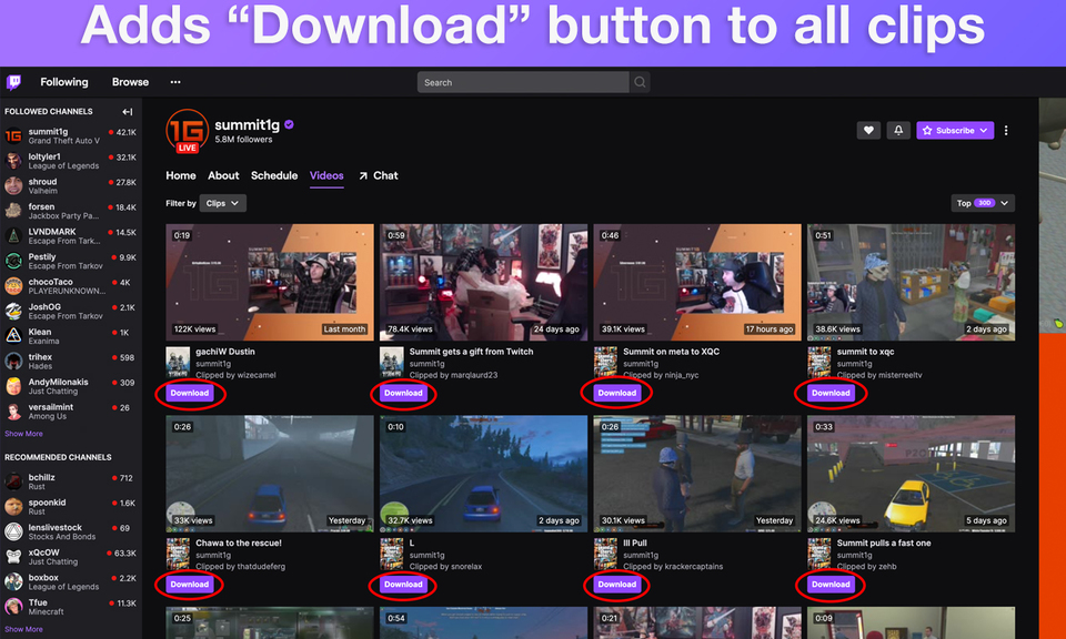 Twitch Clip Downloader AES