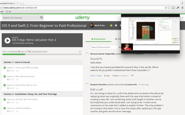 Udemy™ Mini Player Extension