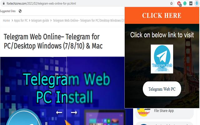 Telegram Web for PC Windows- Online