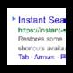 Instant search keyboard shortcut 插件