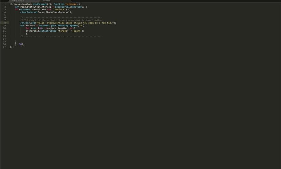 StackOverflow Auto-Tab