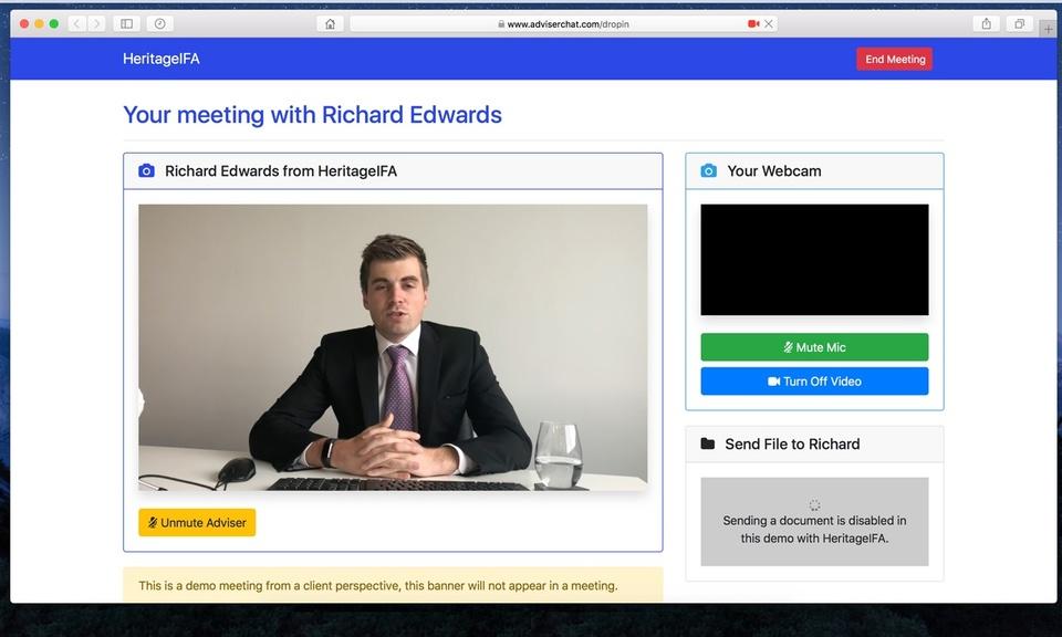 Adviser Chat Screen Sharing