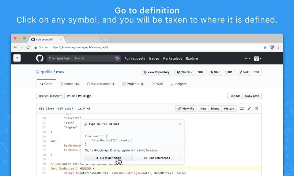 Sourcegraph - GitHub代码查看/搜索工具