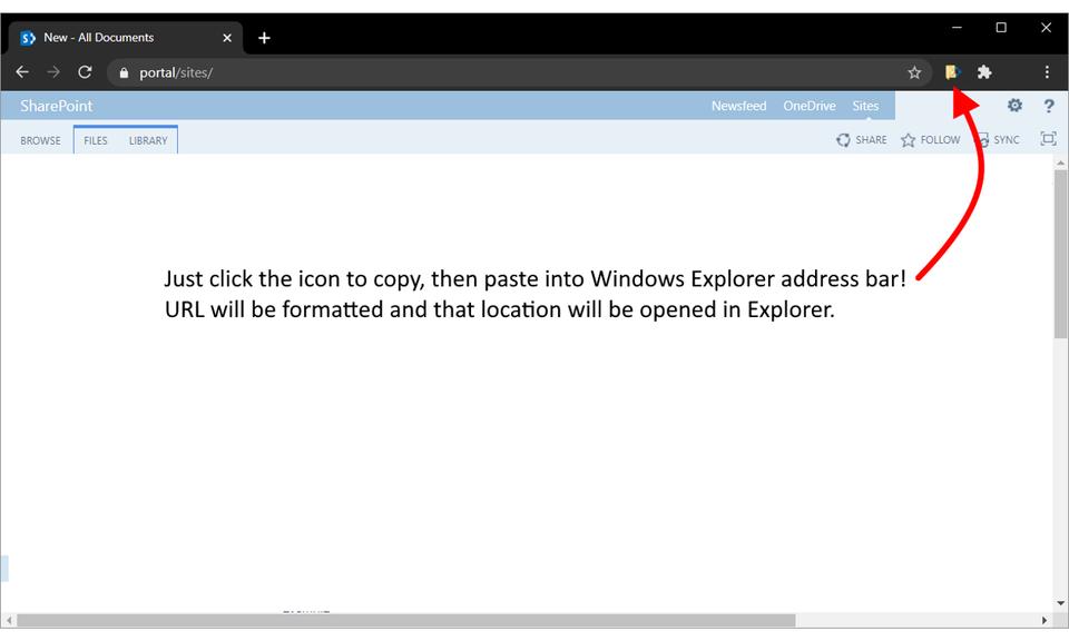 Sharepoint Explorer Link