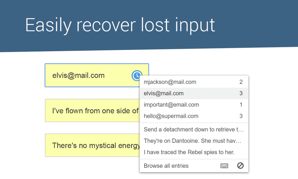 Typio Form Recovery