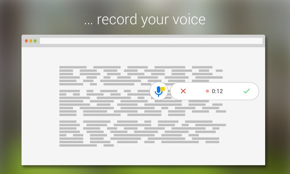Talk and Comment - Voice notes anywhere