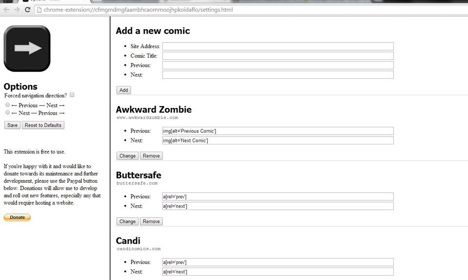 Webcomic Keyboard Navigation