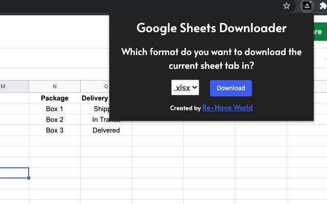 Google Sheets Downloader