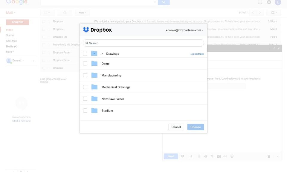 Dropbox for Gmail-在谷歌邮箱中共享Dropbox文件