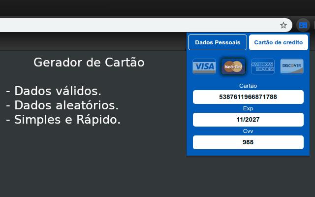 Gerador de CPF, CPNJ e Cartão