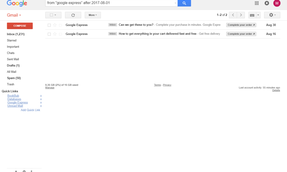 Gmail Quick Links