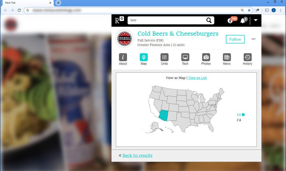 Restaurantology: Foodservice Insight Database