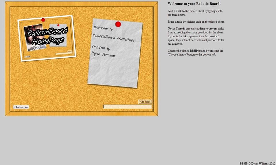 BulletinBoard HomePage