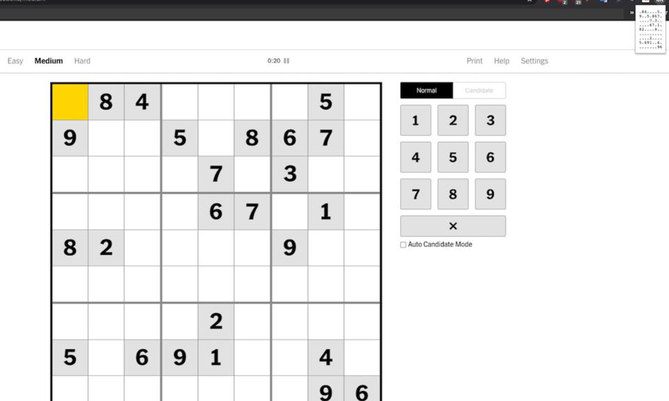 New York Times Sudoku Importer