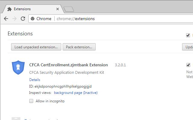 CFCA CertEnrollment.zjmtbank Extension