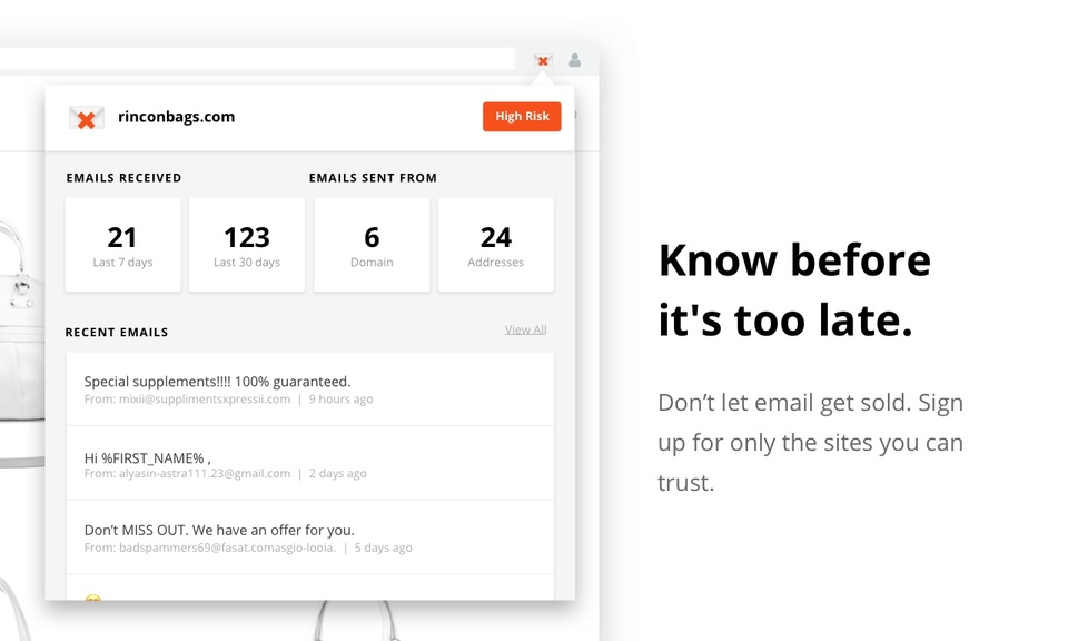 Inbox Preview by TrustedSite